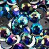Acrylic Round Flat Back Rhinestones 20mm Royal Blue Aurora Borealis 200pcs/bag